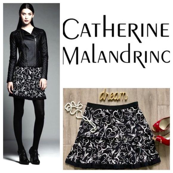 Catherine Malandrino Dresses & Skirts - Paris Skirt Catherine Malandrino Doodle Black